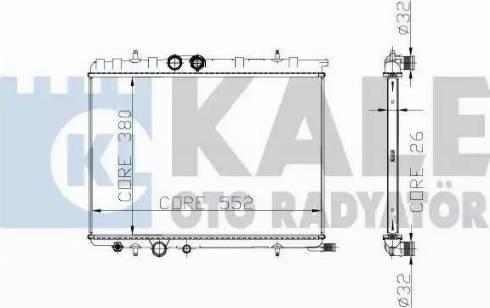 KALE OTO RADYATÖR 219800 - Радіатор, охолодження двигуна autozip.com.ua