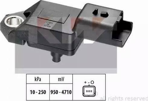 KW 493 034 - Датчик, тиск вихлопних газів autozip.com.ua