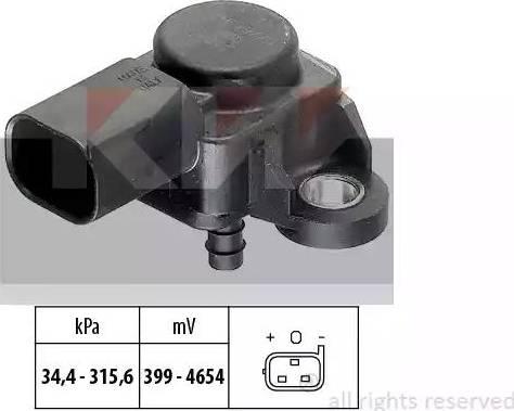 KW 493 165 - Датчик, тиск вихлопних газів autozip.com.ua