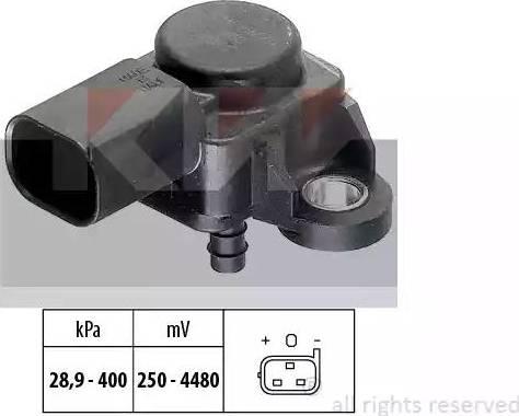 KW 493 175 - Датчик, тиск вихлопних газів autozip.com.ua