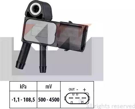 KW 493 269 - Датчик, тиск вихлопних газів autozip.com.ua
