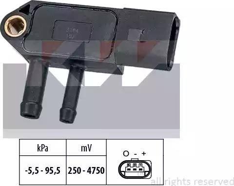KW 493 264 - Датчик, тиск вихлопних газів autozip.com.ua