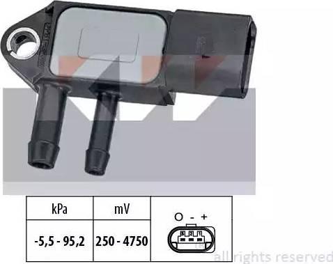 KW 493263 - Датчик, тиск вихлопних газів autozip.com.ua