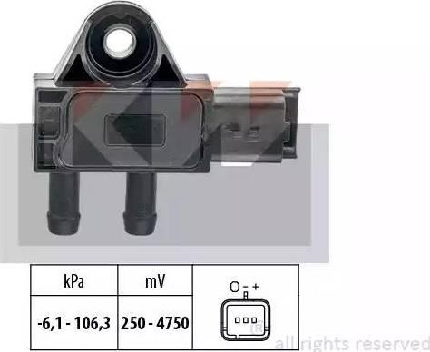 KW 493 271 - Датчик, тиск вихлопних газів autozip.com.ua