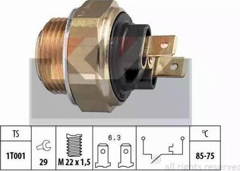 KW 550 008 - Термовимикач, вентилятор радіатора / кондиціонера autozip.com.ua
