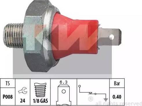 KW 500 017 - Датчик тиску масла autozip.com.ua