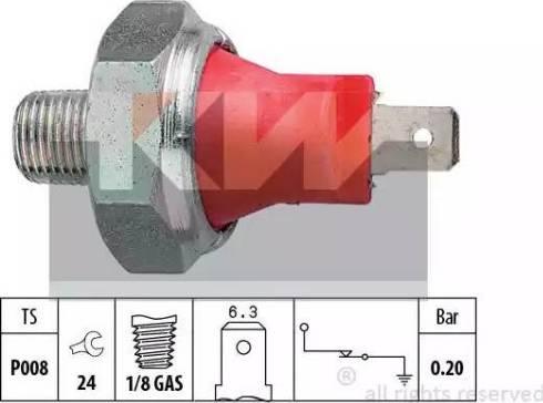 KW 500 035 - Датчик тиску масла autozip.com.ua
