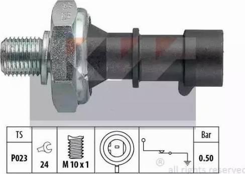 KW 500 141 - Датчик тиску масла autozip.com.ua