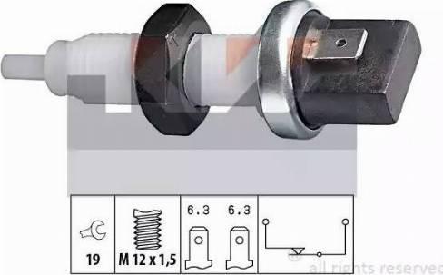 KW 510 000 - Вимикач ліхтаря сигналу гальмування autozip.com.ua