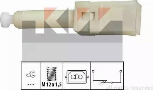 KW 510 087 - Вимикач ліхтаря сигналу гальмування autozip.com.ua
