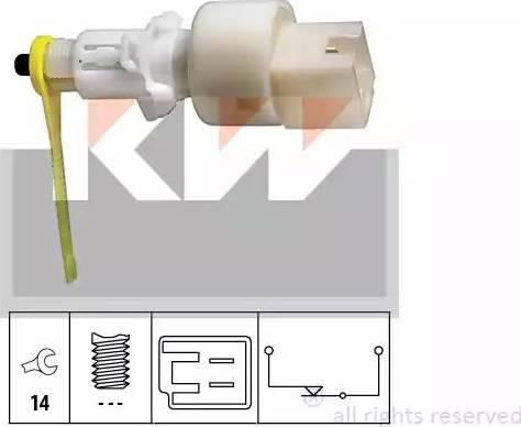 KW 510153 - Вимикач, привід зчеплення (Tempomat) autozip.com.ua