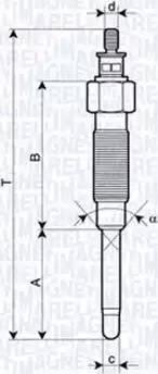 Magneti Marelli 062900065304 - Свічка розжарювання autozip.com.ua