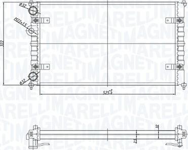Magneti Marelli 350213167700 - Радіатор, охолодження двигуна autozip.com.ua