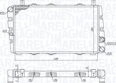 Magneti Marelli 350213189700 - Радіатор, охолодження двигуна autozip.com.ua