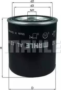 Mahle Original AL12 - Патрон осушувача повітря, пневматична система autozip.com.ua