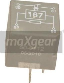 Maxgear 500112 - Реле, паливний насос autozip.com.ua