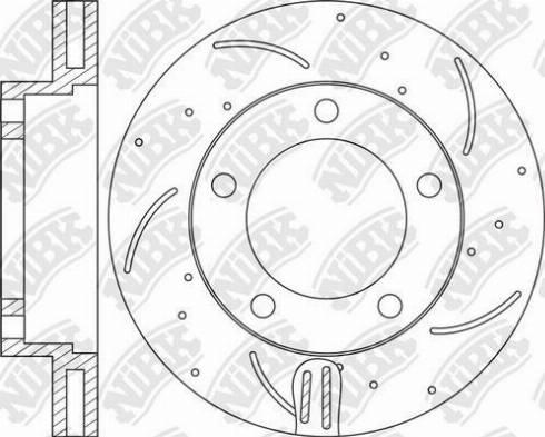 NiBK RN1224DSET - Економічний гальмівний диск autozip.com.ua