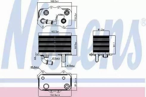 Nissens 90934 - Масляний радіатор, ступінчаста коробка передач autozip.com.ua
