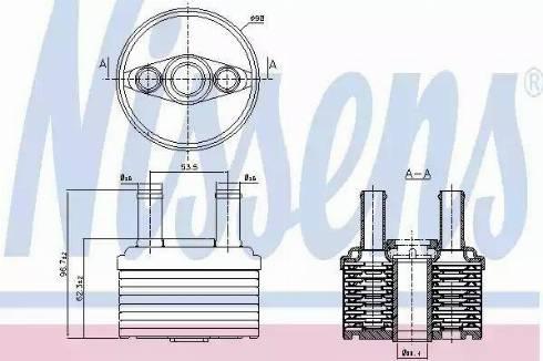 Nissens 90664 - Масляний радіатор, автоматична коробка передач autozip.com.ua