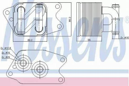Nissens 90733 - Масляний радіатор, автоматична коробка передач autozip.com.ua