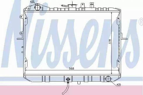 Nissens 66667 - Радіатор, охолодження двигуна autozip.com.ua