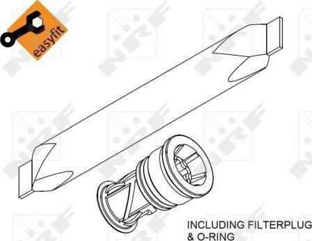 NRF 33370 - Осушувач, кондиціонер autozip.com.ua