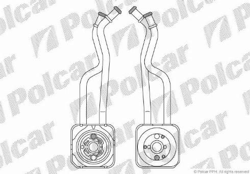 Polcar 9541L82 - Масляний радіатор, ступінчаста коробка передач autozip.com.ua