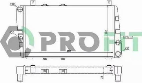Profit PR 9505A1 - Радіатор, охолодження двигуна autozip.com.ua