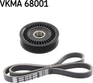 SKF VKMA 68001 - Поликлиновий ремінний комплект autozip.com.ua