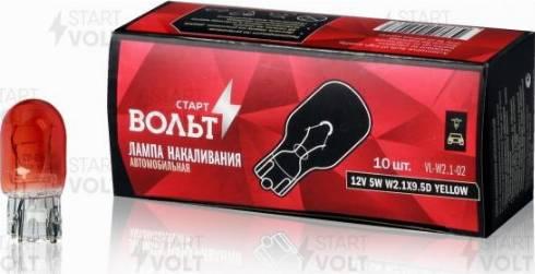 StartVOLT VL-W2.1-02 - Лампа розжарювання, стоянкові вогні / габаритні ліхтарі autozip.com.ua