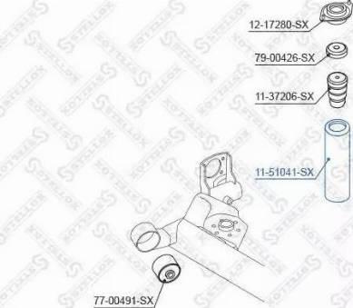 Stellox 11-51041-SX - Пильник амортизатора, захисний ковпак autozip.com.ua