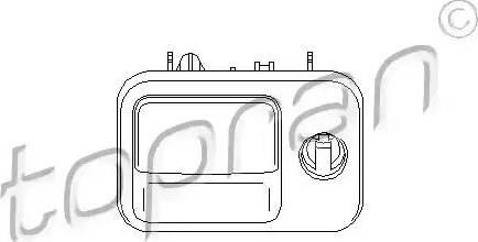 Topran 109077 - Замок речового ящика autozip.com.ua