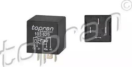 Topran 103629 - Реле аварійною світловою сигналізація autozip.com.ua