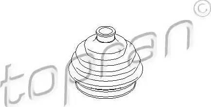 Topran 103392 - Пильник, приводний вал autozip.com.ua