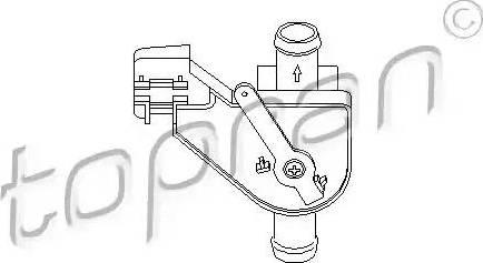 Topran 102654 - Регулюючий клапан охолоджуючої рідини autozip.com.ua