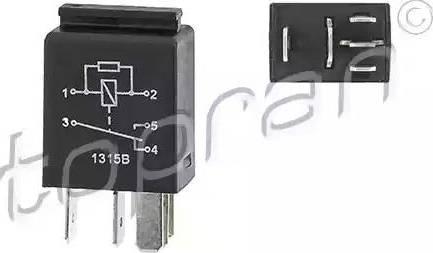 Topran 115664 - Реле, вентилятор радіатора autozip.com.ua