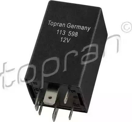 Topran 113 598 - Реле, кондиціонер autozip.com.ua