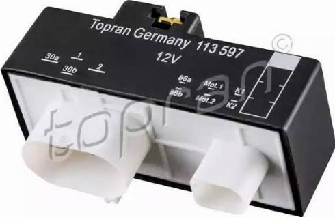 Topran 113597 - Реле, вентилятор радіатора autozip.com.ua