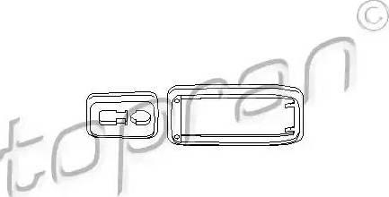 Topran 112284 - Рама ручки дверей autozip.com.ua