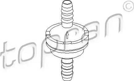 Topran 206111 - Клапан, підсилювач гальмівного механізму autozip.com.ua
