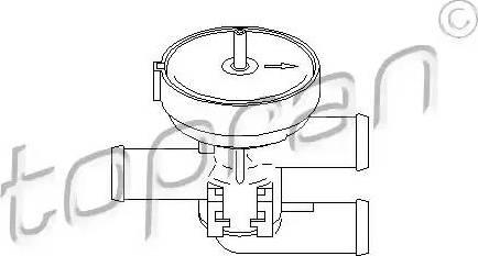 Topran 206241 - Регулюючий клапан охолоджуючої рідини autozip.com.ua