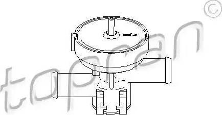 Topran 207465 - Регулюючий клапан охолоджуючої рідини autozip.com.ua