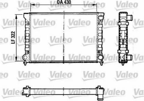 Valeo 883869 - Радіатор, охолодження двигуна autozip.com.ua