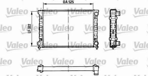 Valeo 883870 - Радіатор, охолодження двигуна autozip.com.ua