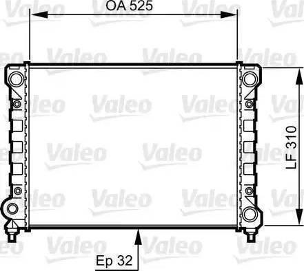 Ava Quality Cooling VW 2071 - Радіатор, охолодження двигуна autozip.com.ua