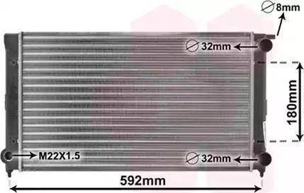 TEMPEST TP.15.65.1511 - Радіатор, охолодження двигуна autozip.com.ua