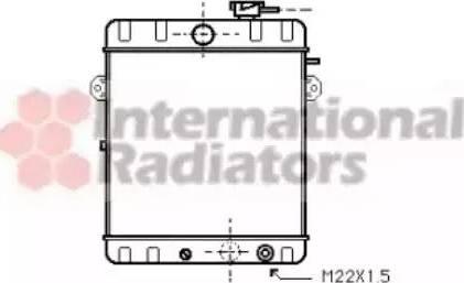 Van Wezel 58002007 - Радіатор, охолодження двигуна autozip.com.ua