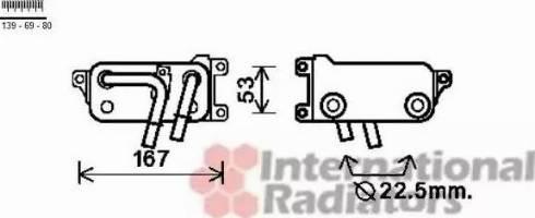 Van Wezel 06003401 - Масляний радіатор, автоматична коробка передач autozip.com.ua