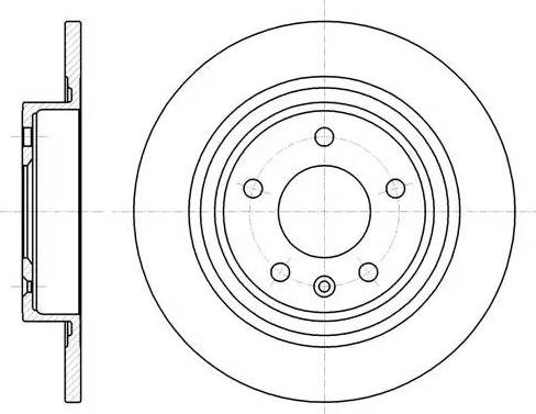 Trialli DF 084710 - Економічний гальмівний диск autozip.com.ua